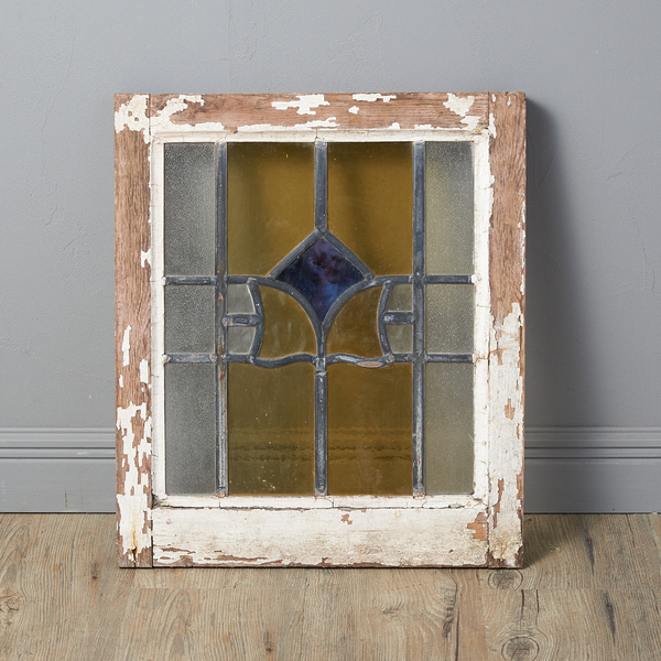 イギリス アンティーク アールデコスタイル ステンドグラス窓