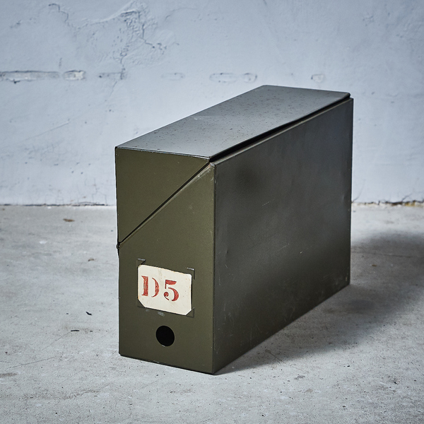 イギリスヴィンテージ メタルファイルケース