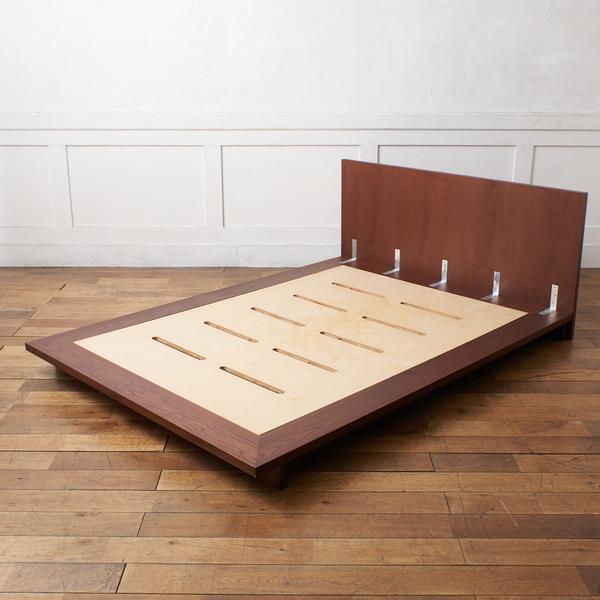 アッシュ材 ダブル ベッドフレーム