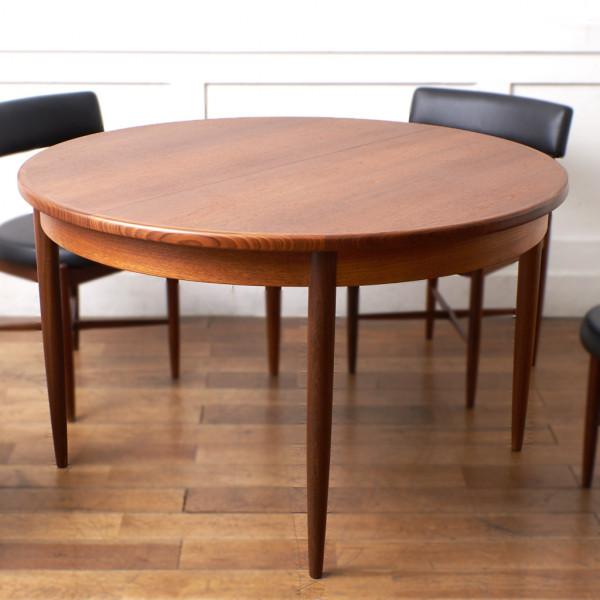 ジープラン G-PLAN (エベネゼル・グーム Ebenezer Gomme) / UK エクステンション ラウンドダイニングテーブル