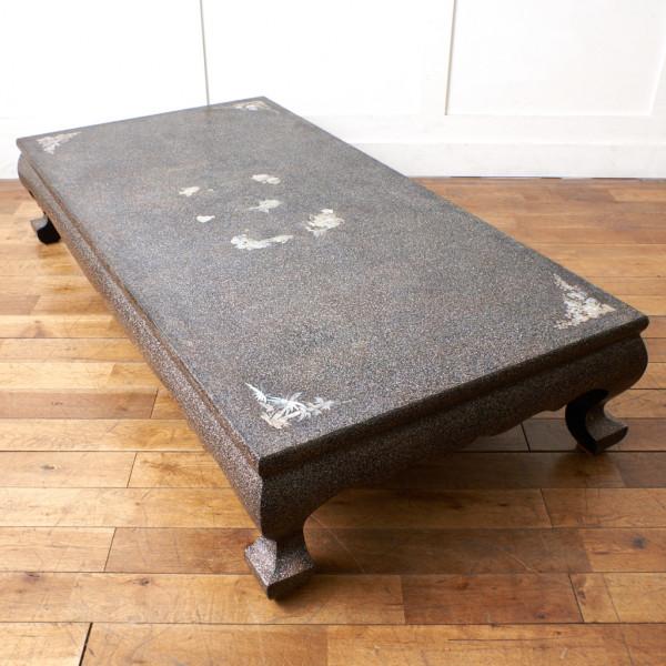 伝統工芸 吉正本作 韓国螺鈿座卓