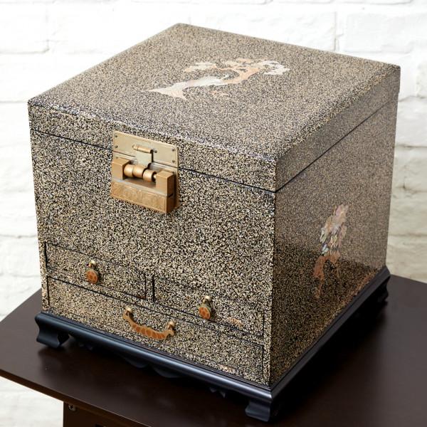 伝統工芸 吉正本作 韓国螺鈿 収納箱