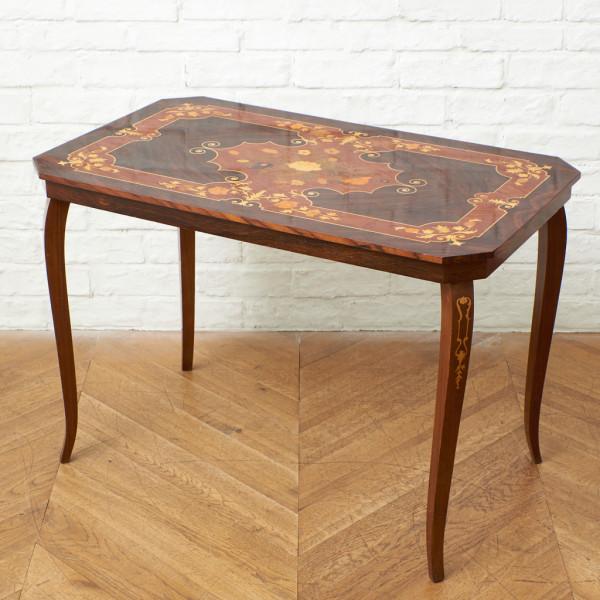 イタリア製 クラシック 象嵌細工 サイドテーブル
