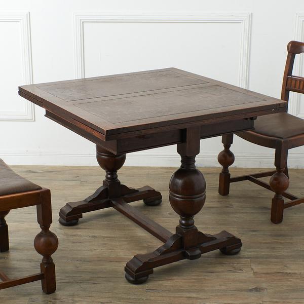 英国アンティーク ドローリーフダイニングテーブル