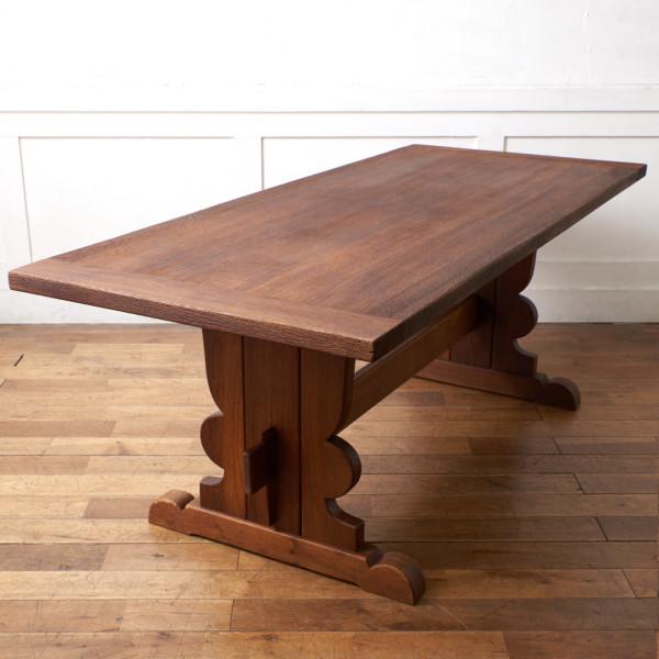 英国製 オーク材 リフェクトリーテーブル