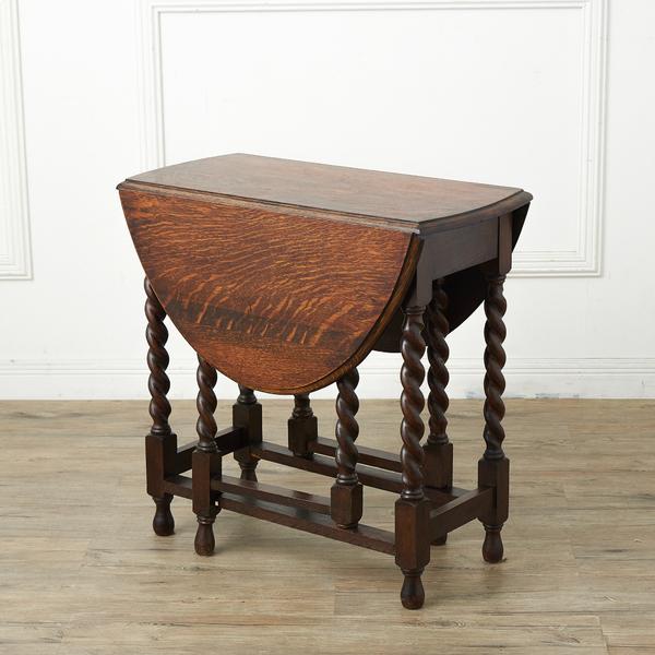 #37056 英国アンティーク オーバルゲートレッグテーブル コンディション画像 - 2