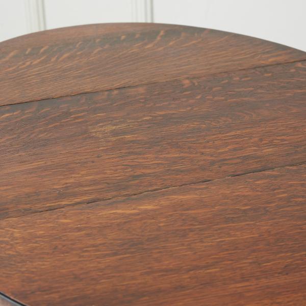 #37056 英国アンティーク オーバルゲートレッグテーブル コンディション画像 - 3