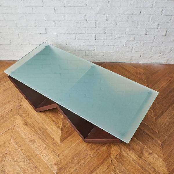 アルフレックス arflex MONTAGNA ガラステーブル 1230 ウォールナット