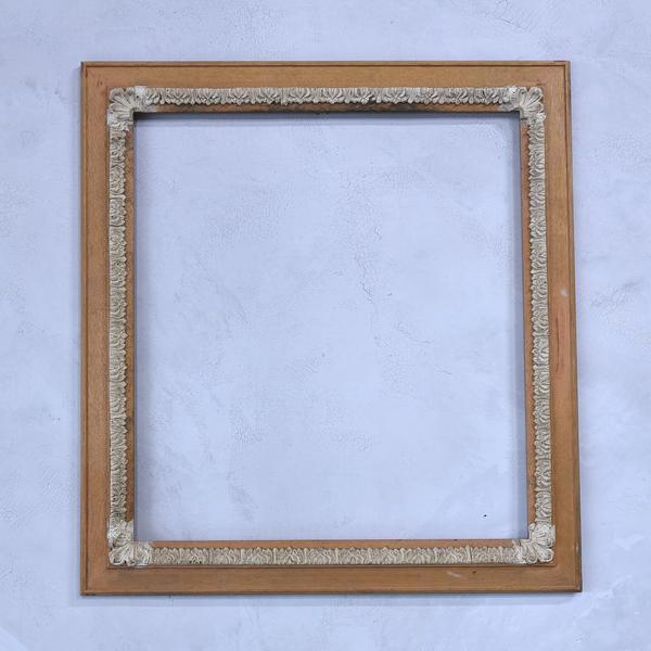 #38808 古い木製 額 フレーム コンディション画像 - 1