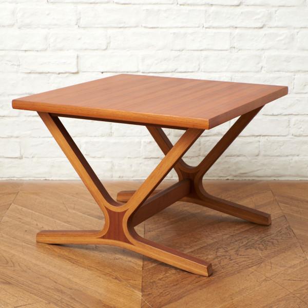 天童木工 Tendo チーク材 プライウッド ヴィンテージ サイドテーブル