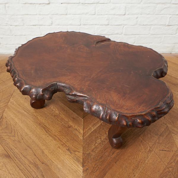 栃無垢材 一枚板 座卓