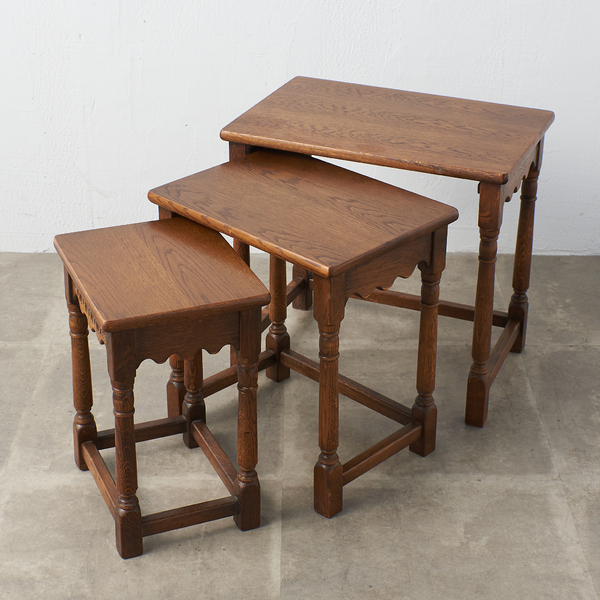 ジェイシーファニチャー jaycee furniture オーク材 ネストテーブル