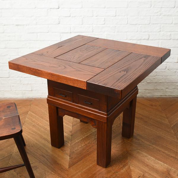 欅無垢材 囲炉裏 ローテーブル 兼 ダイニングテーブル