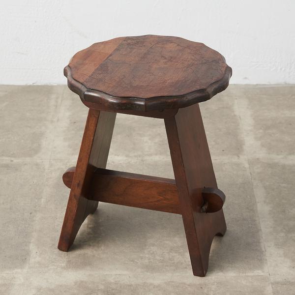 英国アンティーク ウォールナット無垢材 サイドテーブル