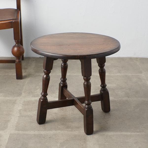 英国製 オーク材 サイドテーブル