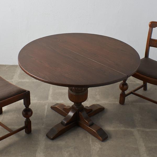 ジェイシーファニチャー jaycee furniture アンティークスタイル エクステンションラウンドテーブル