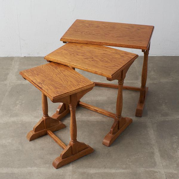 英国製 アンティーク ネストテーブル