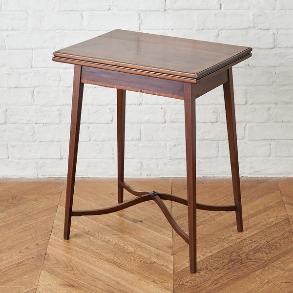 英国製 アンティーク マホガニー材 カードテーブル
