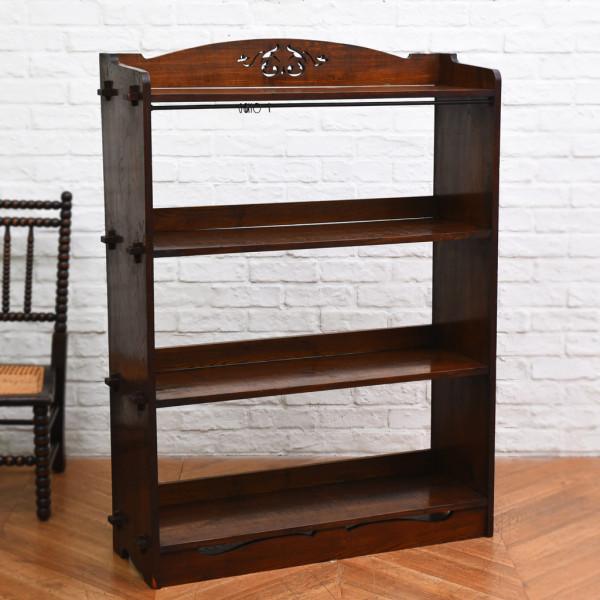 古い木製 楔留め本棚