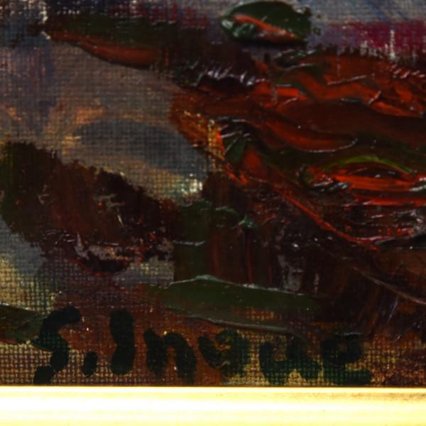 井上重生 [ 薔薇 ]  油彩額装 8号