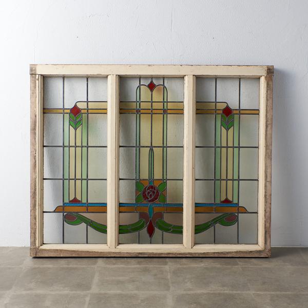 アールデコ様式 アンティーク ステンドグラス