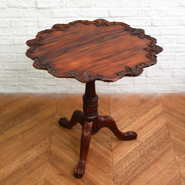 英国製 アンティーク マホガニー材 フリップトップテーブル
