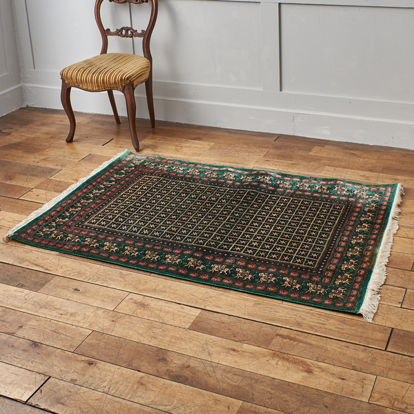 クム産 シルク手織り ペルシャ絨毯