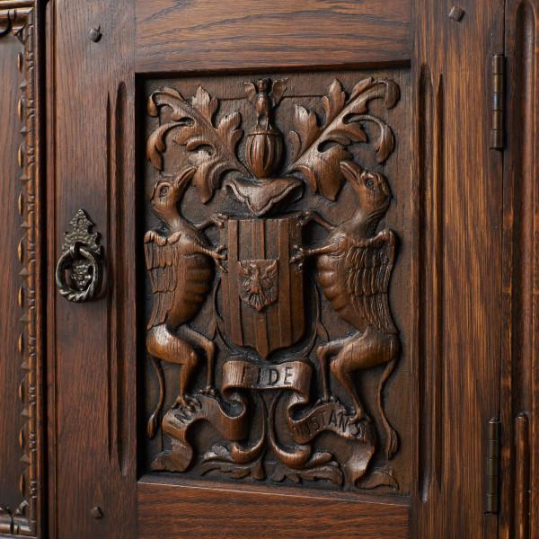 #39290 イギリス 1940年代 オーク 木彫刻 キャビネット コンディション画像 - 2