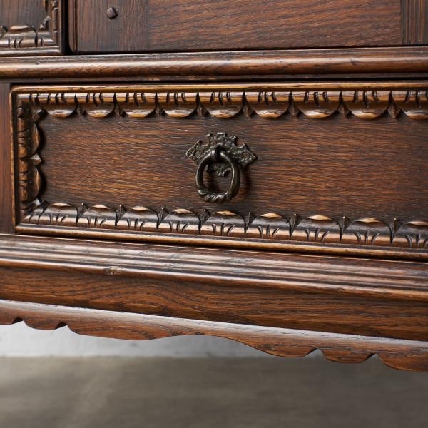 #39290 イギリス 1940年代 オーク 木彫刻 キャビネット コンディション画像 - 3