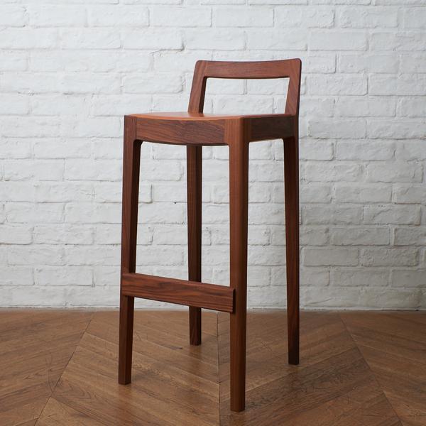 宮崎椅子製作所 / Japan R+Rカウンターチェア / ウォールナット 本革