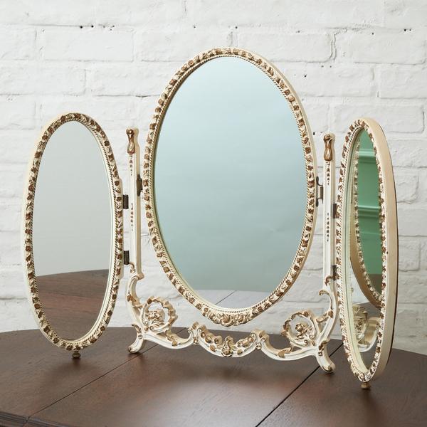 イギリスアンティーク  卓上型3面鏡
