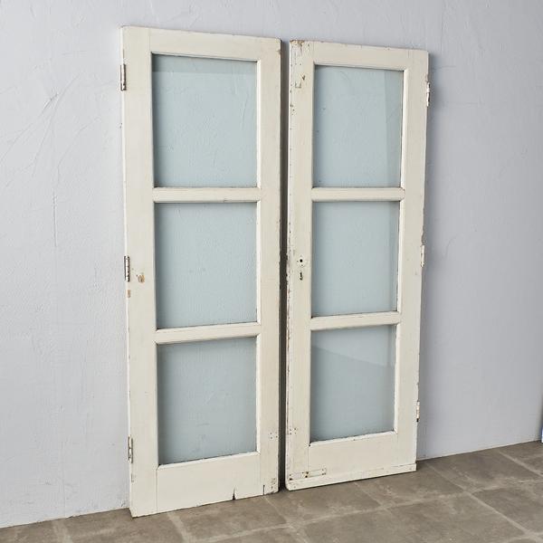 英国製 両開き木製ドア