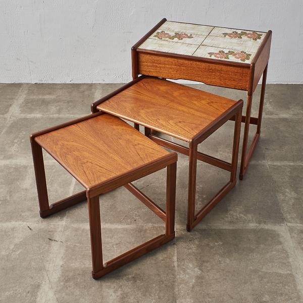 ジープラン G-PLAN タイルトップ ドロワーネストテーブル(3566D)
