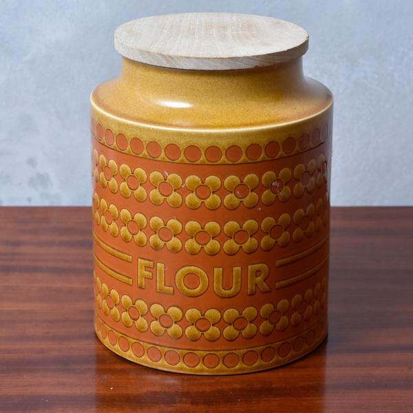 ホーンジー Hornsea Pottery Saffron FLOUR キャニスター