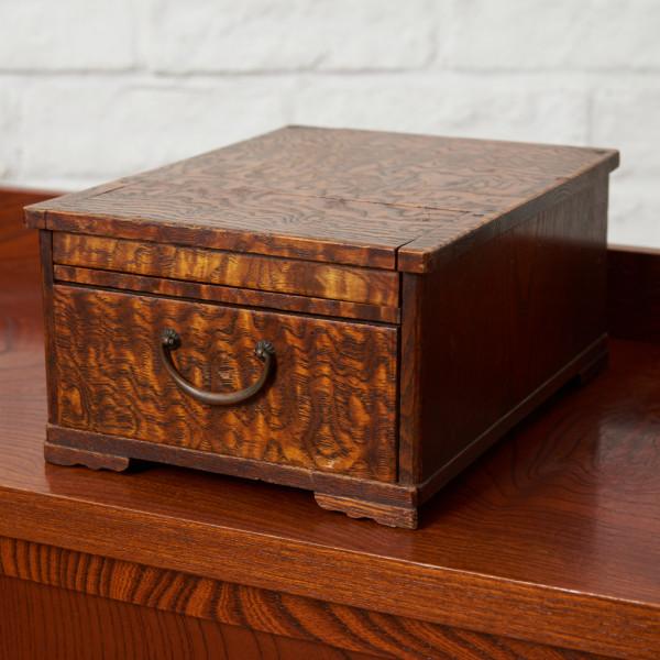 時代物 タモ玉杢 化粧箱