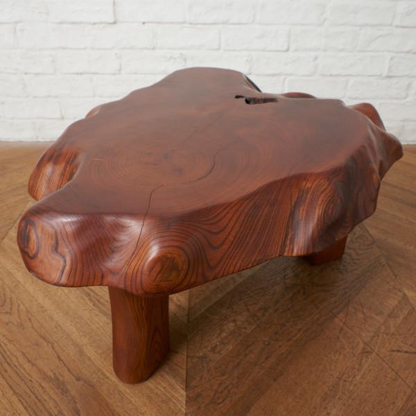 欅一枚板サイドテーブル
