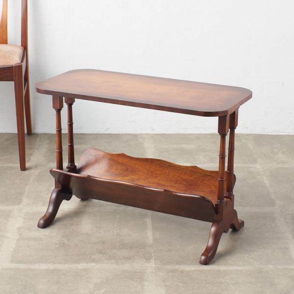 英国製 マホガニー材 サイドテーブル