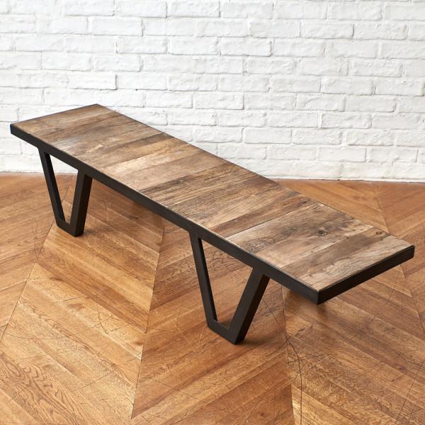 インダストリアル アイアン&ウッド ローテーブル
