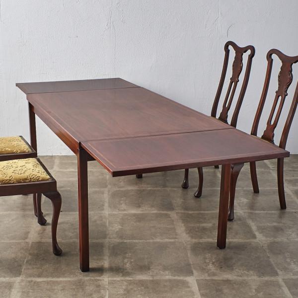 英国ヴィンテージ ローズウッド材 ドローリーフテーブル