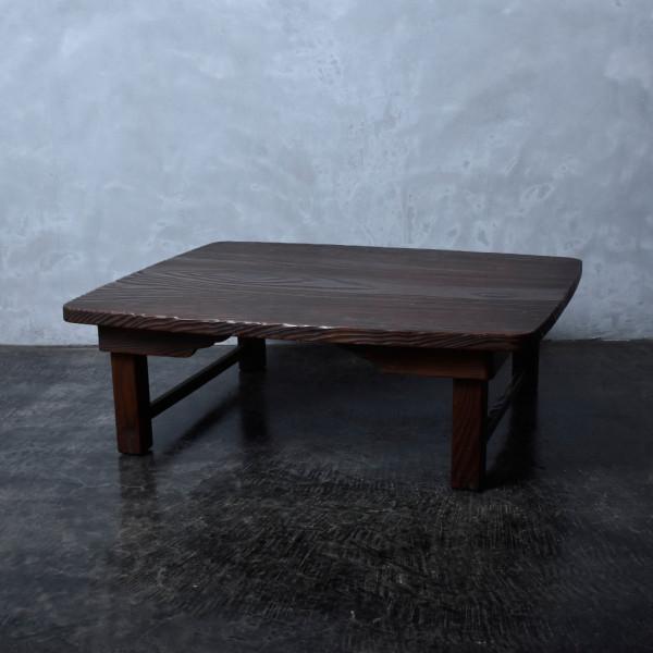 浮造り 杉無垢材 折り畳み座卓