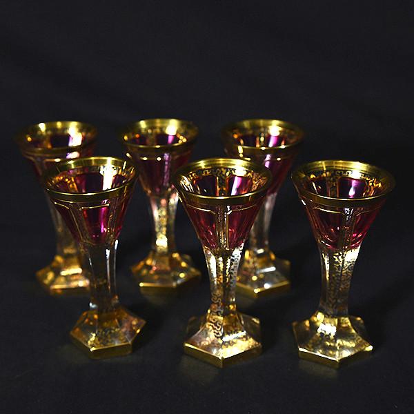 ベネチアングラス 10点セット (デキャンタ&ベル&ワイングラス&ショットグラス)