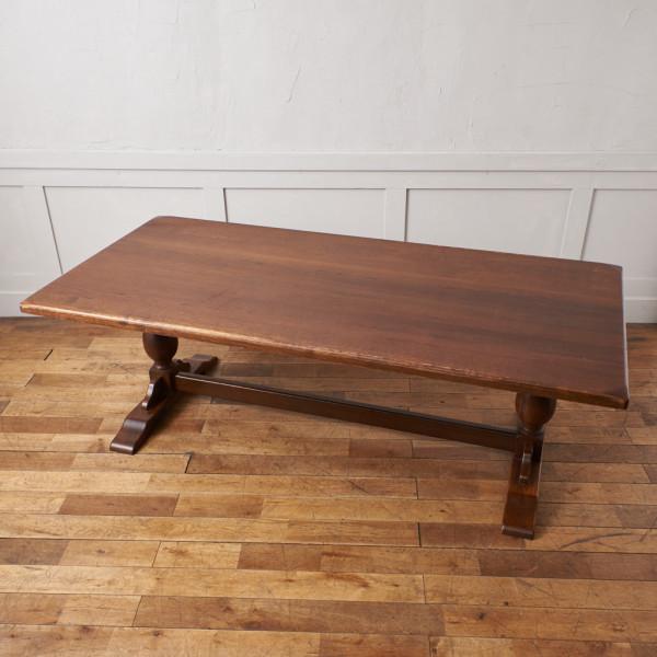 オランダ民芸 オーク無垢材 ダイニングテーブル
