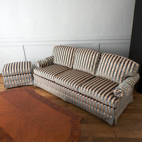 ドレクセル・ヘリテイジ DREXEL HERITAGE Upholstery 3人掛けソファ オットマン付き