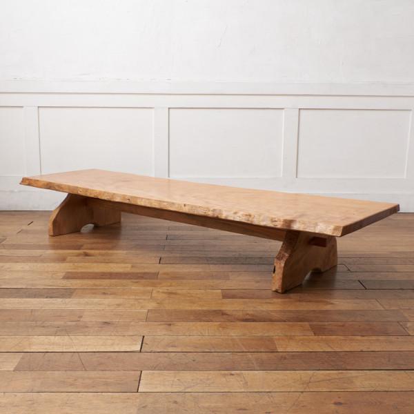 天然木一枚板 大型長座卓