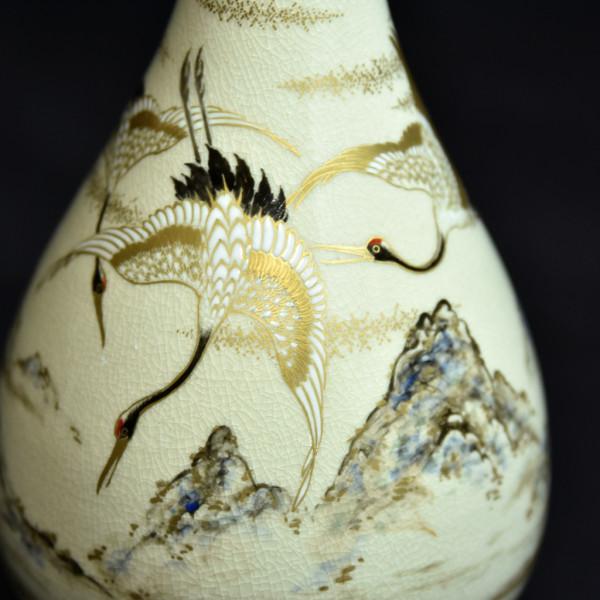 十四代沈寿官 薩摩 鶴紋花瓶