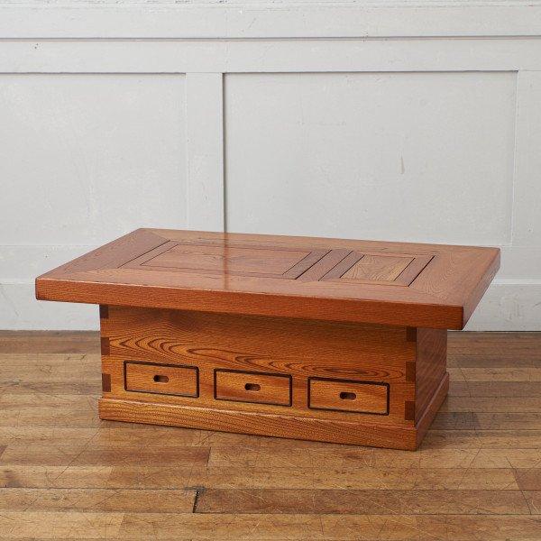 欅無垢材 囲炉裏テーブル