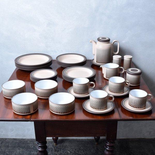 ホーンジー Hornsea Pottery CORAL ディナーセット 34点