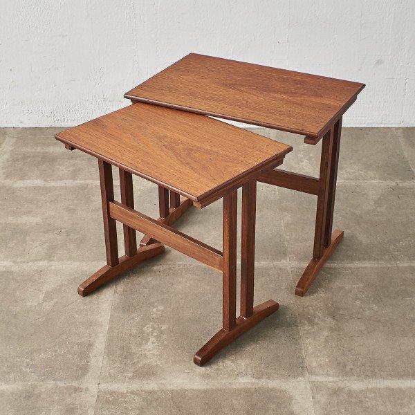 B.C. Mobler Vejle デンマーク製 チーク ヴィンテージ ネストテーブル