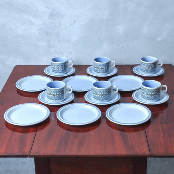 ホーンジー Hornsea Pottery TAPESTRY カップ&ソーサー6客セット+ティープレート6枚