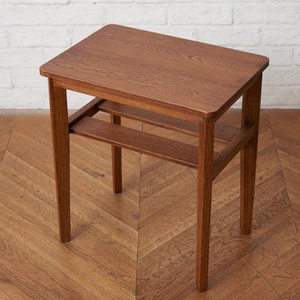 オーク無垢材 CB サイドテーブル
